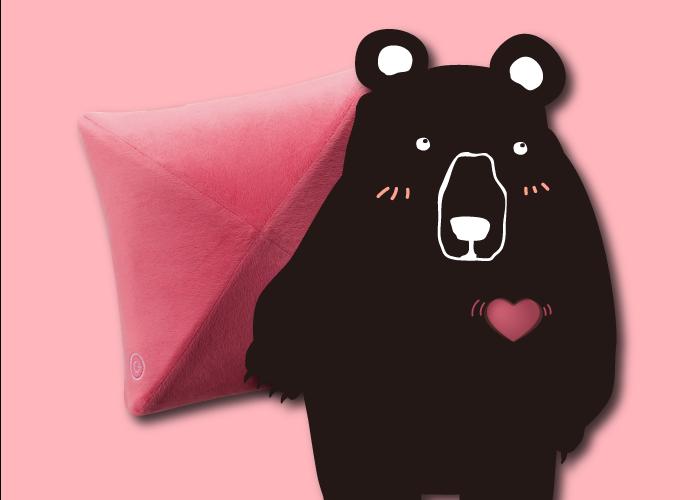 告白創意禮物,熊抱按摩枕,給對方一個可靠的肩膀。